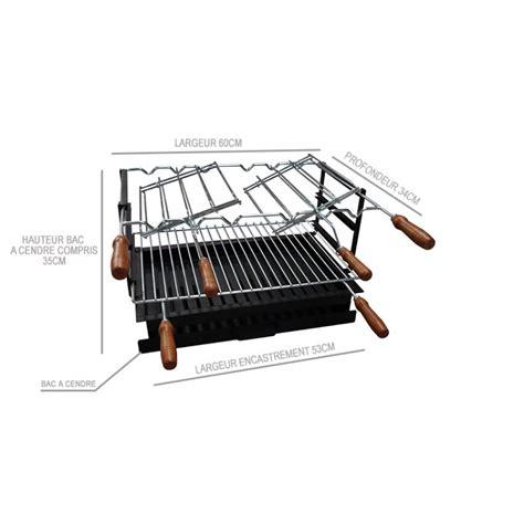 foyer en acier standard pour barbecue