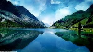 Nature, Lake, Landscape, Natural, Lighting, Wallpapers, Hd