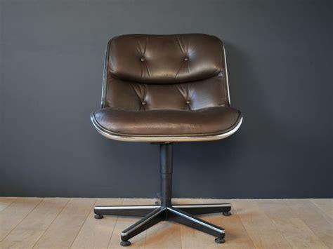 fauteuil de bureau knoll fauteuil charles pollock vintage cuir noir maison