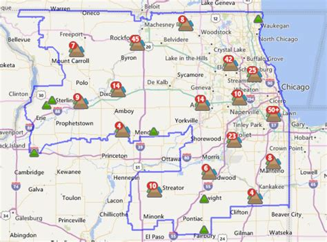 power outages reported  northern illinois wnij