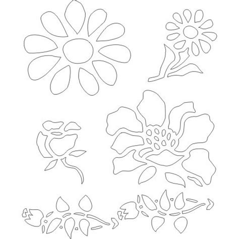 free printable flower stencils for walls 8 best images of free printable flower stencil borders