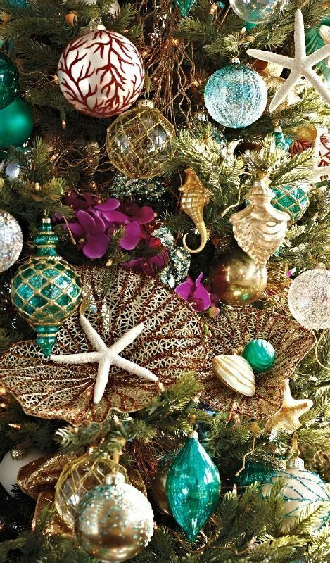 tropical glam christmas decor beach coastal christmas