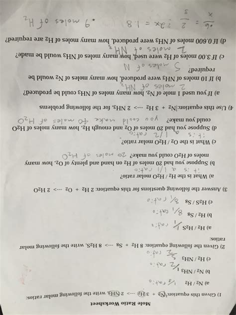 Mole Calculation Worksheet  Welcome To My Blog