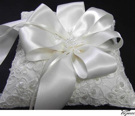 ring bearer pillow lace wedding ring pillow alencon lace