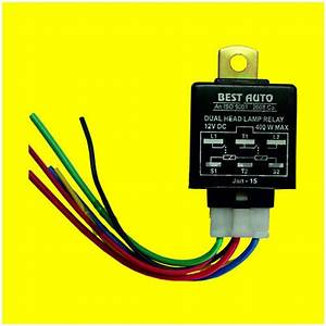 Headlamp Relay  12v  With 6 U0026quot  Wiring