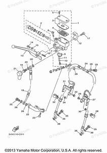 Yamaha Motorcycle 2005 Oem Parts Diagram For Front Master