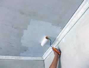 comment peindre un plafond en platre With comment peindre un plafond