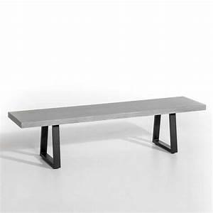 Banc Metal Bois : banc en bois le banc l 39 assise tendance qui remplace la chaise elle d coration ~ Teatrodelosmanantiales.com Idées de Décoration