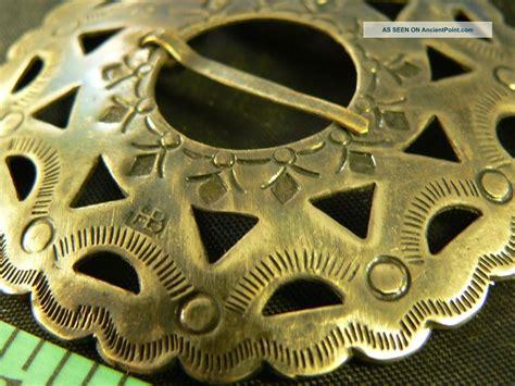 antique hudsons bay company trade silver brooch fur trade