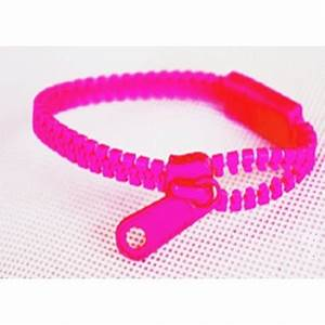Neon Pink Zipper Bracelet Love That Accessory LLC