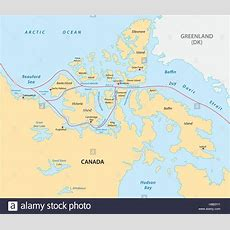 Northwest Passage Map Stock Vector Art & Illustration, Vector Image 125634431 Alamy