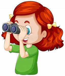 Cartoon Girl Binoculars Stock Illustrations  U2013 544 Cartoon