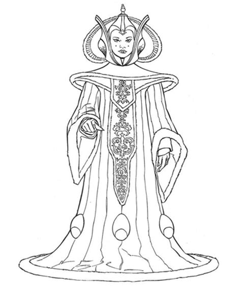 queen amidala coloring page  printable coloring pages
