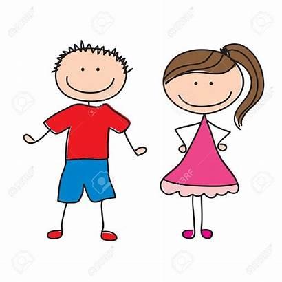 Sister Brother Clipart Children Pair Boy Illustration
