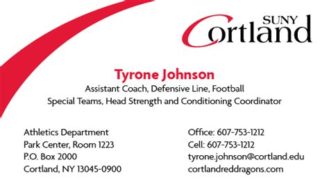lone card phone number business cards suny cortland