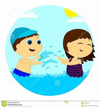 Water Splashing Playing Clipart Children Splash Clip