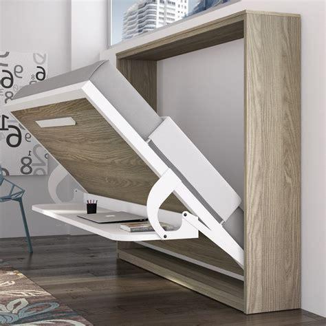 bureau de lit armoire lit avec bureau krono couchage 140 190 20 cm