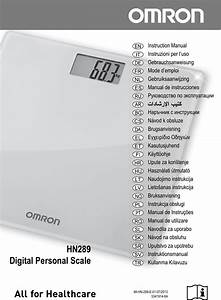 Omron Hn289 Users Manual Hn 289 All Languages
