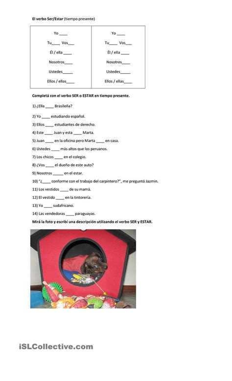 Twiccionario Ser Vs Estar Worksheet Answers Kids Activities