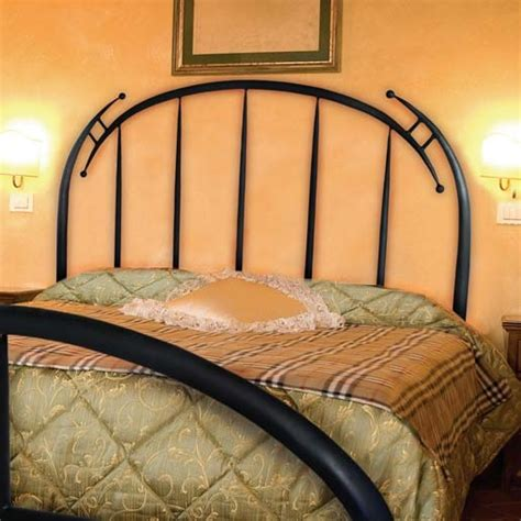 pictured here is the wrought iron headboard forged by artisan blacksmiths
