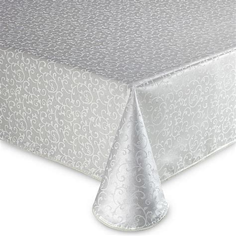 lenox tablecloth buy lenox 174 opal innocence 60 inch x 102 inch oblong tablecloth in white from bed bath beyond