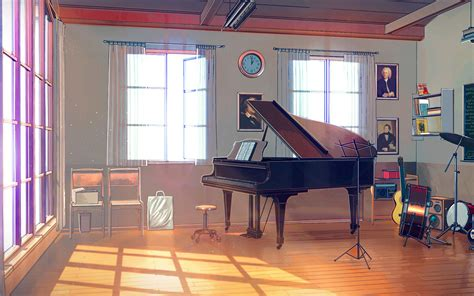 aw arseniy chebynkin  room piano illustration art