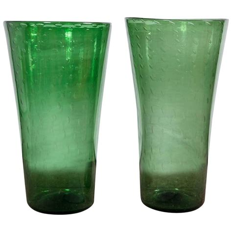 Green Vases For Sale by Green Empoli Glass Vases For Sale At 1stdibs