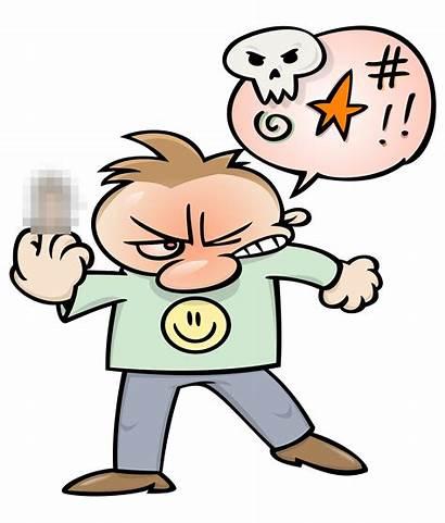 Angry Cursing Clipart Cartoon Finger Uomo Boze