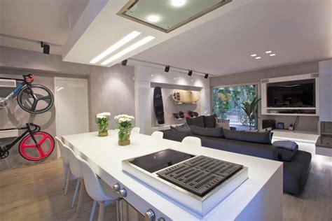 modernes wohnzimmer mit kochinsel weiss freshouse