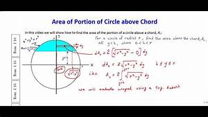 Area Of Portion Of Circle Above Chord  A K A   U0026quot Circular