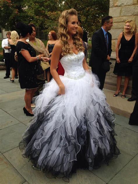 black and white wedding gown gorgeous weddings