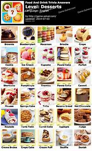 Food and Drink Trivia Desserts Answers - Game Solver