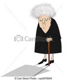 Cranky Old Lady Cartoon