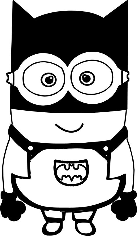 Minions From Despicable Me Movie Coloring Page Batman