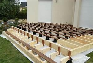 Lambourde Terrasse Composite : pose terrasse bois sur lambourde ~ Premium-room.com Idées de Décoration