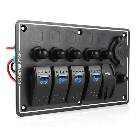 Boat Switch Panel With Breakers by New Boat Marine Waterproof 4 Led Rocker Switch Panel