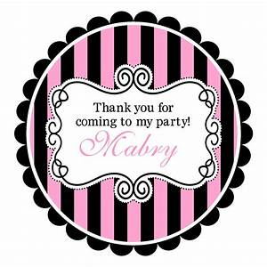 pink and black round labels stickers for address labels With circle address labels sticker