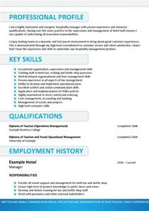 Resume Objective For Hospitality Internship by Exles Of Skills For Resumes Simple Resume Template