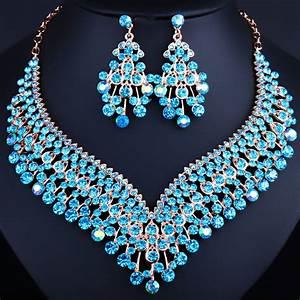fashion wedding jewelry shining tassel shaped necklace