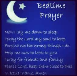 Bedtime Good Night Prayer