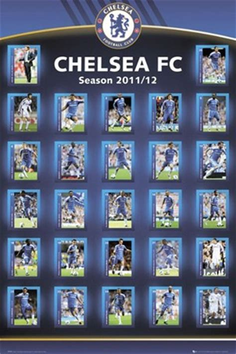 squad profiles  chelsea football club poster buy