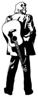 Style and Apply - Johnny Cash Wall Decal, , & Reviews   Houzz