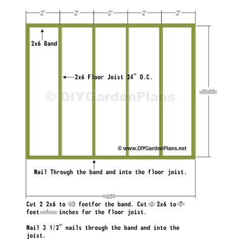 Shed Design Plans 8x10 by 8x10 Shed Floor Plan Nolaya