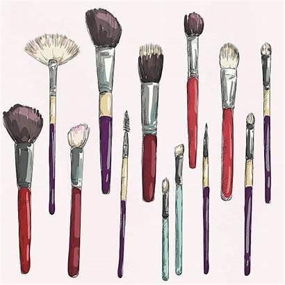 Brushes Illustration Vector Brush Makeup Drawing Clip