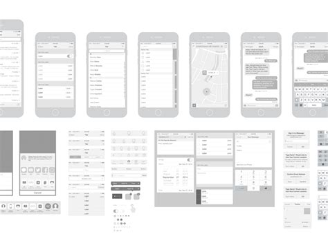free iphone 6 vector wireframing toolkit ios 8 by dribbble dribbble