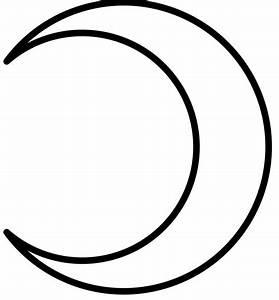 Crescent Moon Sketch Templates