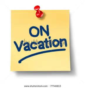 From the Office On Vacation Sign Clip Art