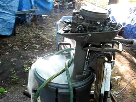 Do Outboard Boat Motors Need To Be Winterized by 1974 Johnson 6hp Outboard Running Again Sparkplug Repair