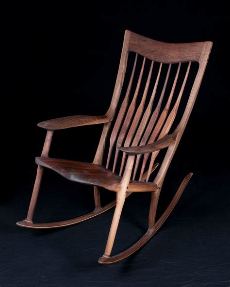 maloof rocking chair joints pat beurskens woodworking portfolio sam maloof style