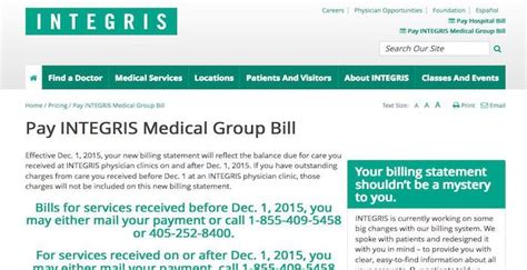 integris health bill pay  login customer service